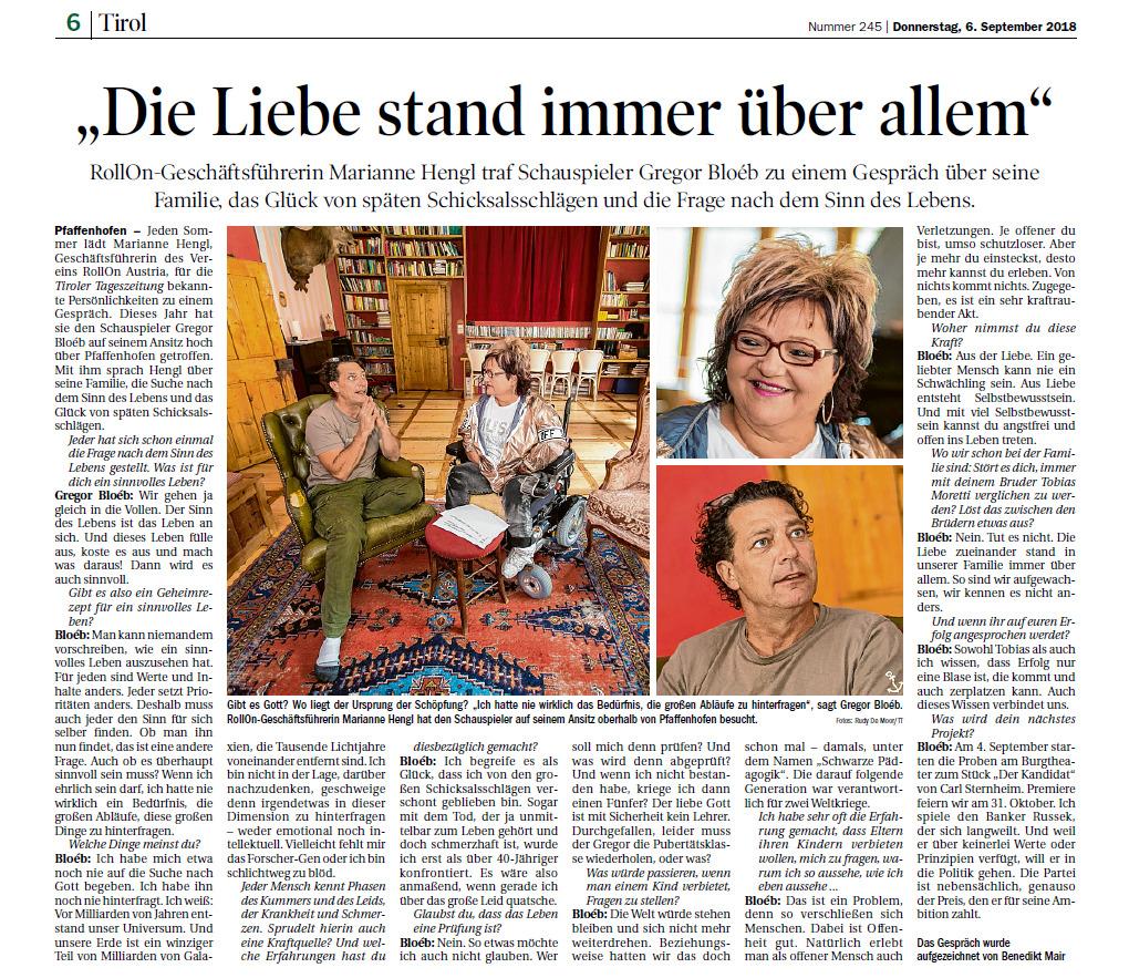 TT Interview mit Gregor Bloeb